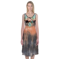 Tie Dye1l Midi Sleeveless Dress by Wanni