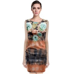 Tie Dye1l Classic Sleeveless Midi Dress by Wanni