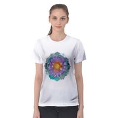 Radiant Lotus Mandala Women s Sport Mesh Tee by Contest2484365