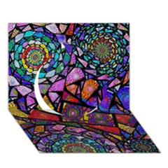 Fractal Stained Glass Circle 3d Greeting Card (7x5)  by WolfepawFractals
