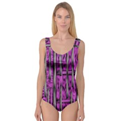 Purple Lace Landscape Abstract Shimmering Lovely In The Dark Princess Tank Leotard