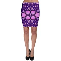 Magic Lotus In A Landscape Temple Of Love And Sun Bodycon Skirt by pepitasart