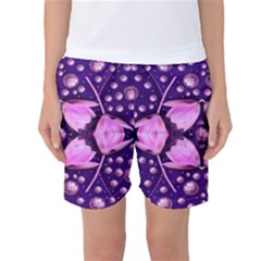 Magic Lotus In A Landscape Temple Of Love And Sun Women s Basketball Shorts