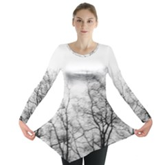 Tree Tops Long Sleeve Tunic  by RoseanneJonesPhotography