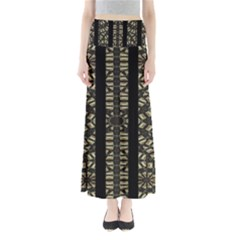 Vertical Stripes Tribal Print Maxi Skirts by dflcprintsclothing