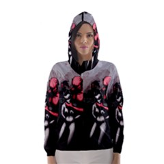 Be Scared Hooded Wind Breaker (women) by lvbart