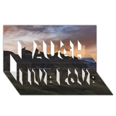 Sunset Scane At Cajas National Park In Cuenca Ecuador Laugh Live Love 3d Greeting Card (8x4)  by dflcprints