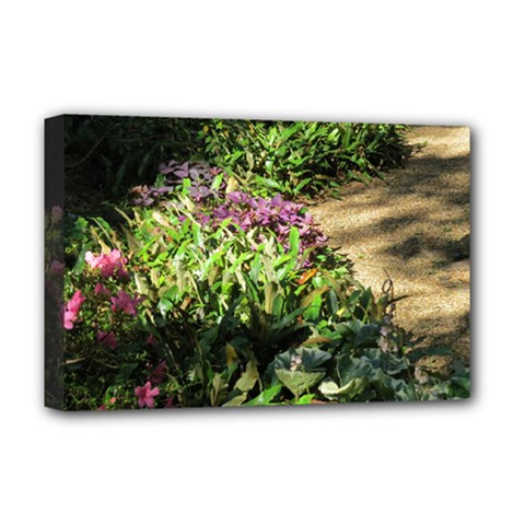 Shadowed Ground Cover Deluxe Canvas 18  X 12   by ArtsFolly