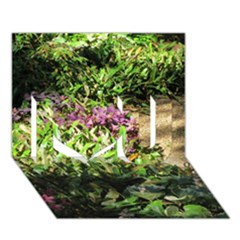 Shadowed Ground Cover I Love You 3d Greeting Card (7x5)  by ArtsFolly