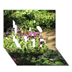 Shadowed Ground Cover Love 3d Greeting Card (7x5)  by ArtsFolly