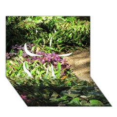 Shadowed Ground Cover Clover 3d Greeting Card (7x5)  by ArtsFolly
