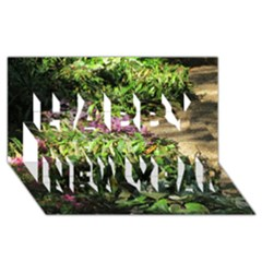 Shadowed Ground Cover Happy New Year 3d Greeting Card (8x4)  by ArtsFolly