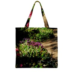 Shadowed Ground Cover Zipper Grocery Tote Bag by ArtsFolly
