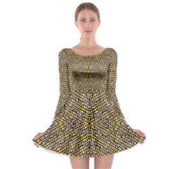 Bee Hive Long Sleeve Skater Dress by MRTACPANS