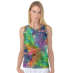 Reality Is Melting Women s Basketball Tank Top