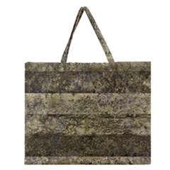 Grunge Stripes Print Zipper Large Tote Bag by dflcprints
