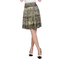 Grunge Stripes Print A Line Skirt by dflcprintsclothing