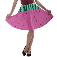 Watermelon A Line Skater Skirt by olgart