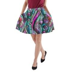 Ocean Jewels A Line Pocket Skirt