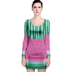 Watermelon Long Sleeve Bodycon Dress by olgart