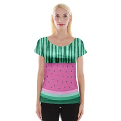 Watermelon Women s Cap Sleeve Top