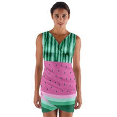 Watermelon Wrap Front Bodycon Dress by olgart