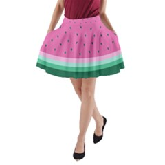 Watermelon A Line Pocket Skirt by olgart