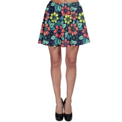 Tropical Flowers Skater Skirt by olgart