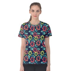 Tropical Flowers Women s Cotton Tee by olgart