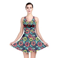 Tropical Flowers Reversible Skater Dress by olgart