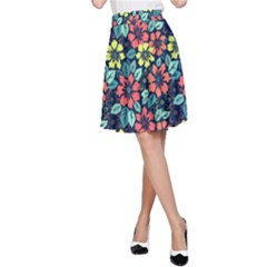 Tropical Flowers A Line Skirt by olgart