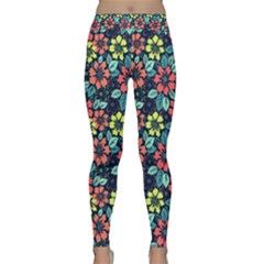 Tropical Flowers Yoga Leggings by olgart