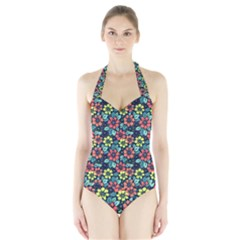 Tropical flowers Halter Swimsuit by olgart