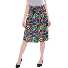 Tropical Flowers Midi Beach Skirt by olgart