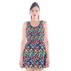 Tropical flowers Scoop Neck Skater Dress