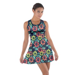 Tropical Flowers Racerback Dresses by olgart