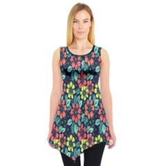 Tropical flowers Sleeveless Tunic by olgart