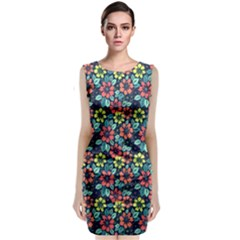 Tropical flowers Classic Sleeveless Midi Dress by olgart