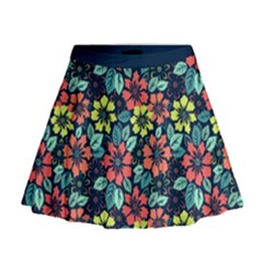 Tropical Flowers Mini Flare Skirt by olgart