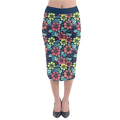 Tropical flowers Midi Pencil Skirt by olgart