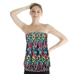 Tropical flowers Strapless Top by olgart