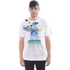 Beach angel Men s Sport Mesh Tee by gumacreative