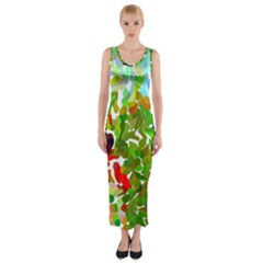 Peace N Joy4 Fitted Maxi Dress by BIBILOVER