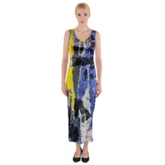Urban Grunge Fitted Maxi Dress by ArtistRoseanneJones