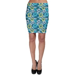 Tropical Flowers Menthol Color Bodycon Skirt by olgart