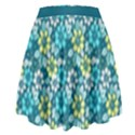 Tropical flowers Menthol color High Waist Skirt View2