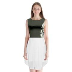 Camouflage Sleeveless Chiffon Dress   by Wanni