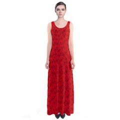 Red Roses Sleeveless Maxi Dress by BIBILOVER