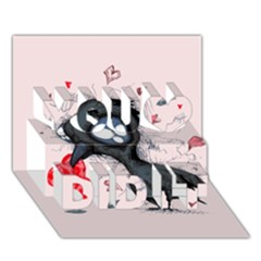 Baby Crow  You Did It 3d Greeting Card (7x5)