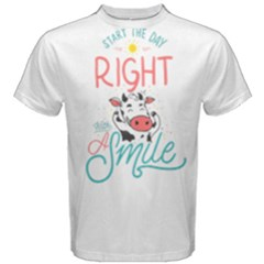 Start The Day Right With A Smile! Men s Cotton Tee by Contest2492401